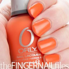 I helped create the first Plastic finish nail color!! Ladies, Orange Nails are in for Spring!
