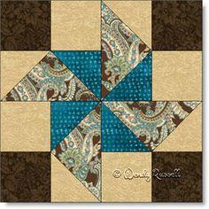 OLD FAN quilt block pattern