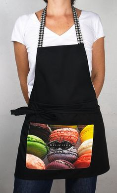 To make delicious macarons Macarons, Apron, Cooking, Tea Towels, Tablecloths, Curtains, Bonjour, Kitchen, Macaroons