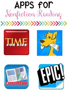 Teaching NonFiction Text Features the FUN way! {with a Freebie} 4 Non-Fiction reading apps that are free to begin! Some do have paid features that can be added! Students enjoy them and they teach many great non-fiction skills! 5th Grade Reading, Kids Reading, Teaching Reading, Teaching Ideas, Reading Post, Reading Response, Close Reading, Reading Activities, Guided Reading
