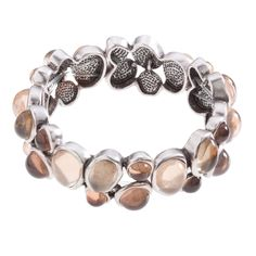 """Lyra-Natural Bracelet  by Grace Adele, a Scentsy Family Company.  A classic style, featuring perfect dew drops of glistening color. Wear it alone or stack it with other bracelets for a look that's all your own. Lyra Collection  •  Silver tone  •  7"""" length  •  Elastic  Click the picture to order online, browse, or join my team!"""