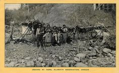 Indians at home on the Klamath Reservation, Oregon, via Flickr.