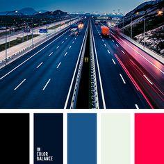 azul turquí, blanco sucio, color azul navy, color azul oscuro verdoso, color luz de noche, combinación contrastante, elección del color, negro, negro y azul oscuro, paletas de diseño, paletas para diseñadores, rojo carmesí, rojo y azul oscuro.