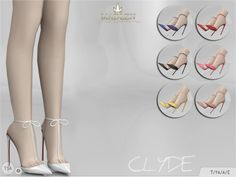 Clyde Shoes for The Sims 4