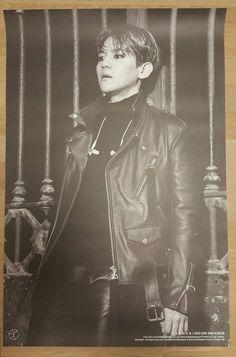 """EXO """"EXODUS"""" BAEKHYUN Official Poster 2nd Album Tube Case Unfolded"""