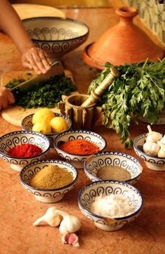 Moroccan spices http://www.whenevermarrakech.com/cooking-class/ http://www.thistimeinmarrakech.com/cooking-class/