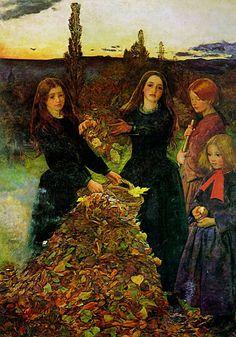 """""""Autumn Leaves"""" - Sir John Everett Millais - 1855-1856"""