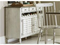 Shop+for+Liberty+Furniture+Server,+517-SR5036,+and+other+Dining+Room+Buffet+Cabinets+at+Blockers+Furniture+in+Ocala,+FL.+Pewter+Metal+Insert+Wood+Knob.+Louvered+Door.+10+Bottle+Open+Storage.+French+and+English+Dovetail+Construction.+Full+Extension+Metal+Side+Drawer+Glides.
