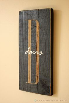 Personalized Signs Love this! Silhouette project? Nice idea for a wedding gift