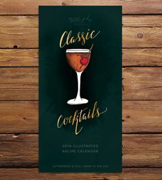 2016 Classic Cocktail Recipe Calendar by Five by Five Tonics on Scoutmob