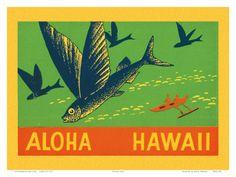 Hawaiian Travel Ads (Vintage Art) Posters at AllPosters.com