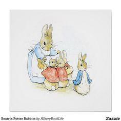 Beatrix Potter Rabbits Perfect Poster