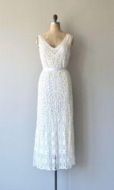 Battenburg dress vintage lace dress white cutout by DearGolden