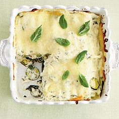Zucchini-and-Spinach Lasagna Recipe | MyRecipes.com Mobile