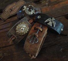 Iron Crow Rockin Vintage - Hot! Rocker, Biker, Cowboy Cool Custom Vintage Leather cuffs by Matt Dougan Free Shipping Anywhere! , $67.00 (http://www.ironcrowvintage.com/products/hot-rocker-biker-cowboy-cool-custom-vintage-leather-cuffs-by-matt-dougan-free-shipping-anywhere.html/)