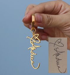 Personalized Handwriting Keychain  Custom by SilverElegant on Etsy