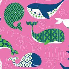 Ana Davis - True Blue - True Blue Whales in Dark Pink