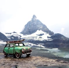 Matterhorn Expedition - http://www.boredpanda.com/miniature-toy-car-photography-kim-leuenberger/