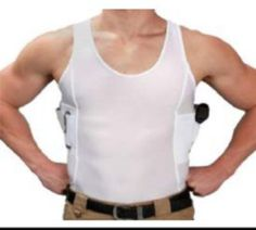 e83d1168eed34 The WeConceal Men s White. Ccw HolstersGun HolsterConcealed Carry ShirtTactical  ...