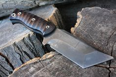 "Handcrafted FOF ""Suture"" Full tang fixed blade Tanto and Custom Tactical knife"