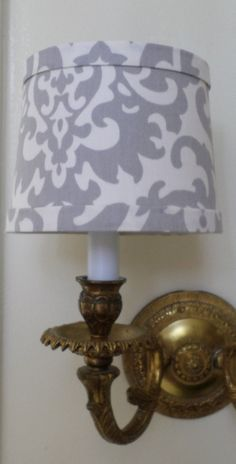 Chandelier Shade in a new Waverly iconic design fabric in dove gray. Chandelier Lamp Shades, Waverly Fabric, Custom Shades, Dove Grey, Icon Design, Fabric Design, Sconces, Contemporary, Etsy