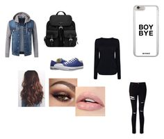 """""""Little Stilinsky(Liam Dunbar)"""" by dirtynathanielx on Polyvore featuring Converse, Prada, Helmut Lang and Miss Selfridge"""