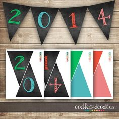 New Year 2014 Banners, New Year's Eve Pennant Banner #2014 #new #year