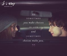 If I Stay book quote. This book made me cry and cry and cry :'( Poor Mia. But she still has a family