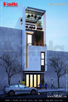 Nhà phố hiện đại 4 tầng đẹp