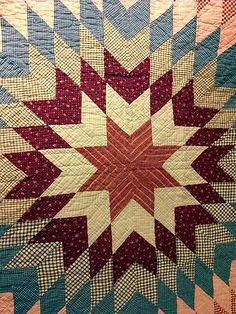 Detail, Antique Quilt Lone Star | eBay, gitzer99