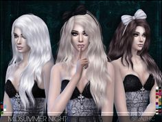 Sims 4 Hairs ~ The Sims Resource: Midsummer Night hairstyle by Stealthic Sims 4 Mods, My Sims, Night Hairstyles, Female Hairstyles, Film Manga, Sims 4 Characters, The Sims 4 Download, Sims Hair, Sims 4 Clothing
