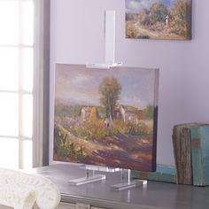 Acrylic Easel features adjustable heights to hold your mini masterpieces.Clear acrylic isn't obtrusiveLightweight for easy mobilityWorks in any x x Acrylic Art, Clear Acrylic, Lavender Walls, Art Easel, Framed Art, Wall Art, White Picture, Wisteria, Decorative Accessories