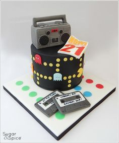 'Now that's what I call 21' ... 80's theme cake by Sugargourmande Lou
