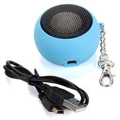 EDT-Круглые Мини Портативные Колонки Динамик Звуковые Колонки USB MP3 MP4 BLEU