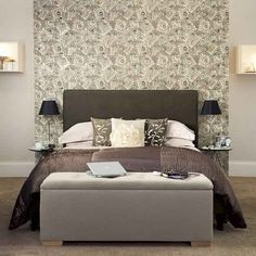 bedroom wallpaper chic - Google Search
