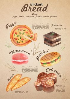 All about bread - Italy.  #image #illustration #bread #collection #ltaly #npine #iclickart