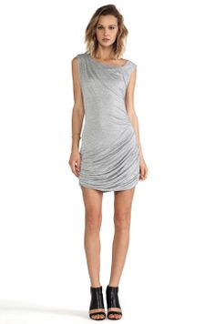 I love this flowey & thin mini dress in heather grey.