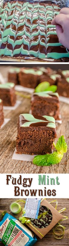 AD Bob's Red Mill All-Purpose Organic Flour turned out some fantastic Fudgy Mint Brownies. Deep rich chocolate brownie flavor highlighted with cool mint chocolate ganache topping. A terrific dessert to share with friends and family or take to a holiday party.
