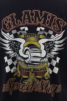 MENS-BLACK-XL-GLAMIS-SPEED-SHOP-T-SHIRT-SAND-DUNES-DRAGS-PADDLE-TIRES-EXTRA-LRG
