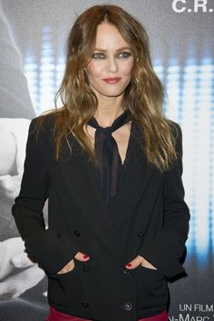 Makeup style: Vanessa Paradis, at premiere Cafe De Flore jan 2012