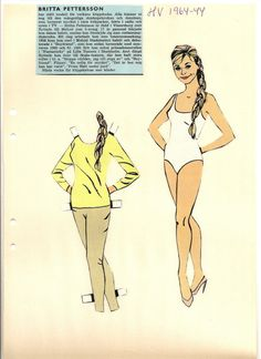 Britta Pettersson paper doll, 1964 * 1500 free paper dolls at artist Arielle Gabriel's International Paper Doll Society also her new memoir The Goddess of Mercy & the Dept  of Miracles playing with paper dolls in Montreal *