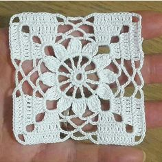 Best 12 Crochet flower granny square motif is one of those beautiful and easy patterns each and every crocheter would love to make. These colorful squares… – SkillOfKing. Granny Square Crochet Pattern, Crochet Blocks, Crochet Squares, Crochet Motif, Crochet Doilies, Crochet Flowers, Hand Crochet, Crochet Lace, Crochet Patterns