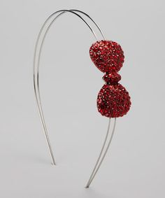 Look at this #zulilyfind! Red Gem Bow Headband by Charla's Place #zulilyfinds