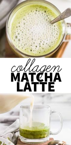 This collagen matcha latte recipe is healthy and easy to make. It's the perfect hot drink to get your morning started. With almond milk, collagen, coconut oil, and matcha, this bulletproof drink packs a lot of benefits! Matcha Collagen, Collagen Drink, Almond Milk, Coconut Oil, Matcha Latte Recipe, Organic Matcha Powder, Matcha Drink, Matcha Green Tea Latte, Healthy Drinks