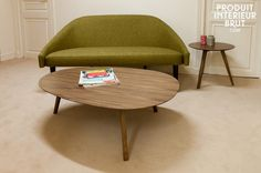 Table basse vintage esprit scandinave hansen family - Table basse cocktail scandinave ...