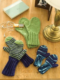 Crochet Mittens for All. I like the long armbands