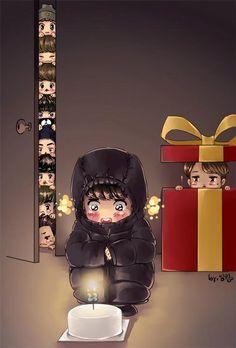 Kyungsoo gets JongIn as a present!