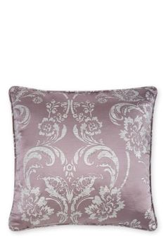 Buy Mauve Luxe Metallic Damask Cushion from the Next UK online shop