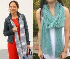 Look courtesy of Lady of Style. Pattern is the Chrysler Trellis Scarf in Superior.  http://on.fb.me/1wh0YYe