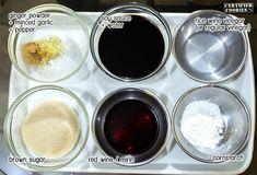 Ingredients for Japanese Chicken Yakitori
